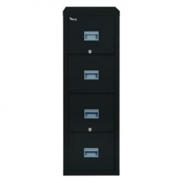 Fireking Patriot 4P1831 C Letter 1 Hour Fire Rated File Cabinet   Black