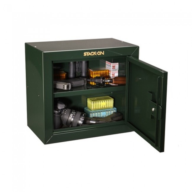 Stack On Gcb 500 Pistol Ammo Key Lock Cabinet W Two