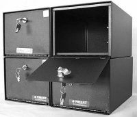 PermaVault Stackable Pistol Safe PVB-5813 with Security Cam Key Lock